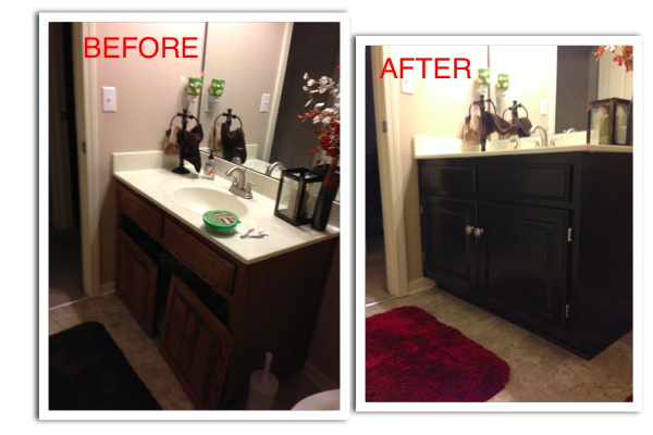 refinishing my guest bathroom vanity diy ista kelli